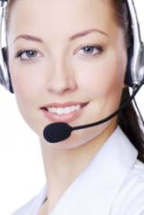 Woman with headset small