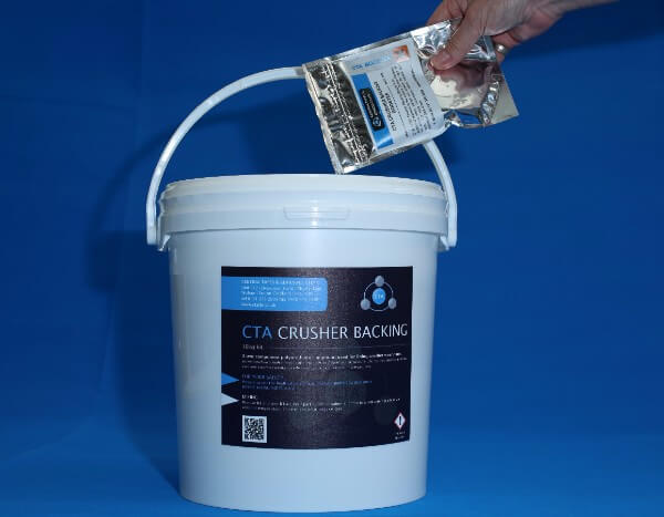 Crusher backing and enhancer