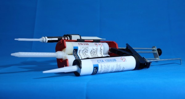 Manual applicator guns for adhesives