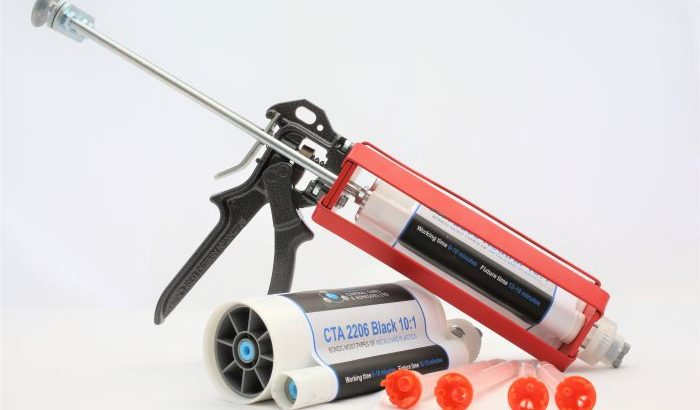 2206 structural adhesive two cartridges nozzles and gun